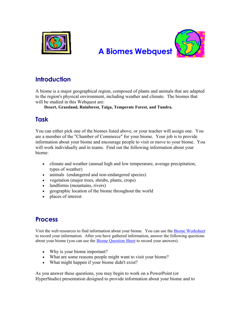 biome webquest worksheet the best and most comprehensive worksheets. Black Bedroom Furniture Sets. Home Design Ideas