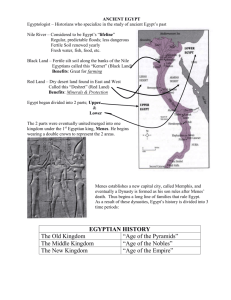 Notes on Geography of Egypt