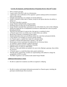 Growth, Development, and Reproduction of Organisms Review Sheet