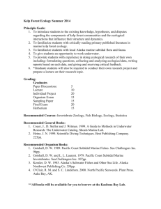 Kelp Forest Ecology syllabus
