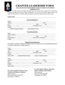CHAPTER LEADERSHIP FORM