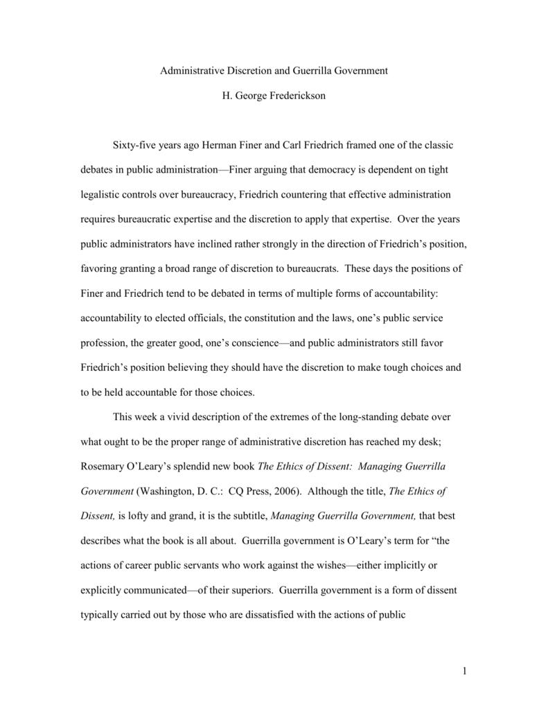 friedrich finer debate essay