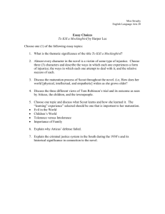 Essay Assignment & Topics