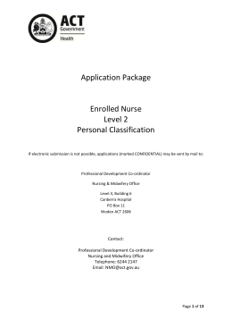 2015 EN L2 Personal Classification Application Package