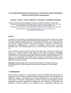 Models for Evaluating the Effectiveness of Internal Controls