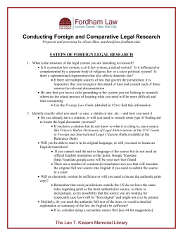 Handout - Foreign and Comparative Legal Research (stand