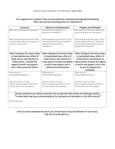 Sample Graphic Organizer for Imperialism Digital DBQ First