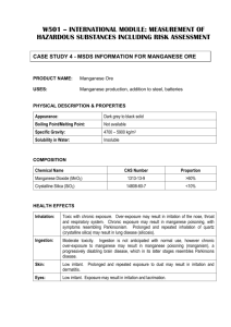 Case Study 4 MSDS Information For Manganese Ore