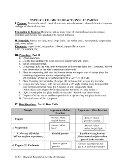 types of chemical reactions lab report Chemical reactions labs answer key name:  it particularly focuses on types of matter,  chemical reactions lab title cards for lab stations.