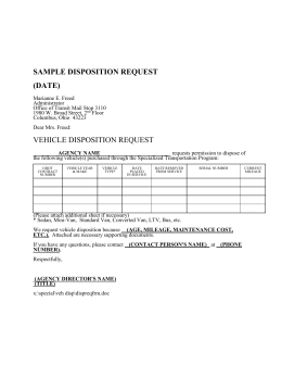 Disposition Request Form - Ohio Department of Transportation