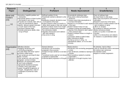 Rubric for Research Paper