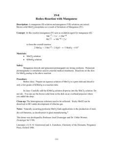 Redox-Reaction with Manganese