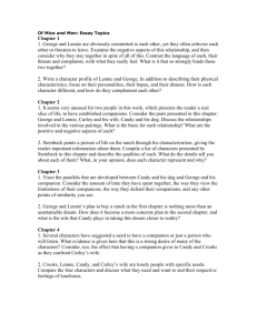 of mice and men essay test of mice and men essay topics