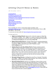 News and Notes 28 October 2015 - Uniting Church in Western