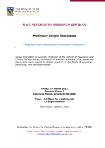 UWA Psychiatry Research Seminar