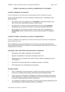ethics and social justice commitment statement