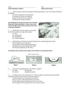 "Name: Date: Practice Questions ""Glaciers"" Regents Earth Science 1"