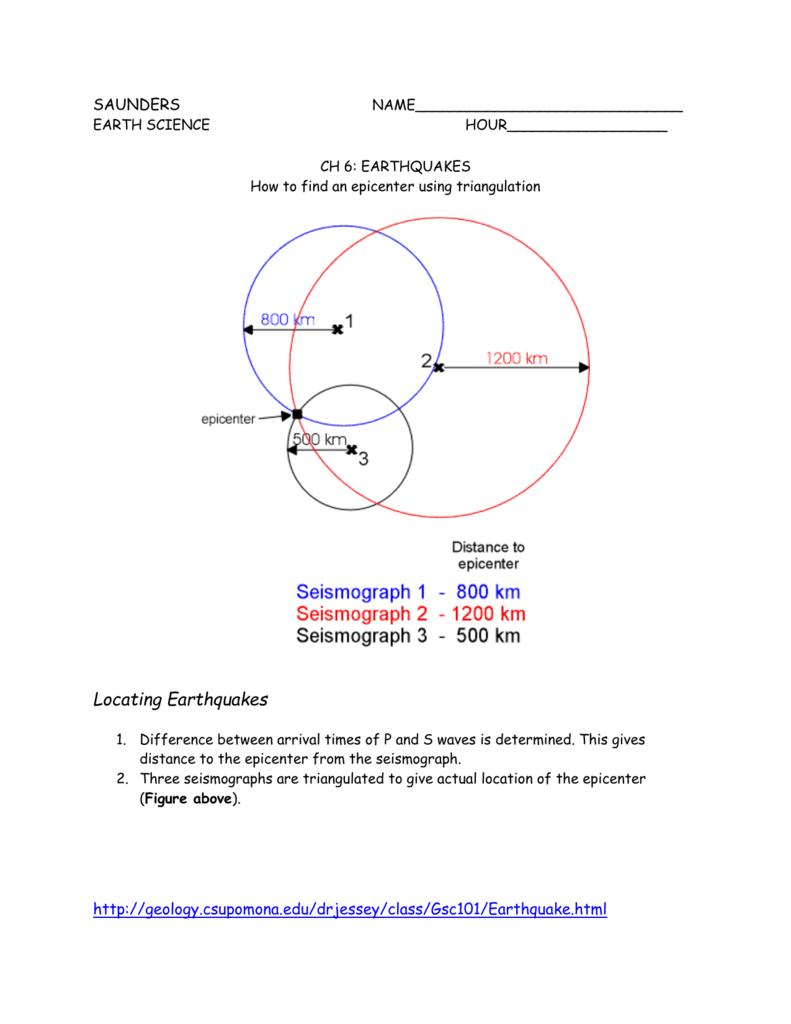 worksheet Find The Epicenter Worksheet triangulation worksheet