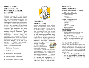 food science, dietics and nutrition career pathway