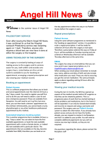 Angel Hill News Issue 8 June 2015 Page 1 Welcome to the summer