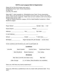 Junior Team Tennis Player Registration