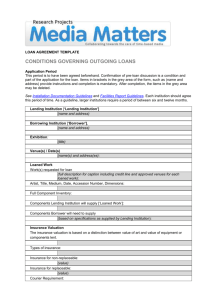 Matters in Media Art: loan agreement template