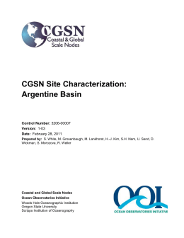 CGSN Site Characterization: Argentine Basin Array