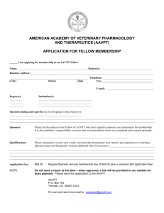 MS Word - American Academy of Veterinary Pharmacology and