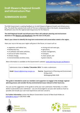 SUBMISSIONS GUIDE - Nature Conservation Council of NSW
