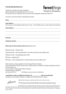 Forest Forge Friends Membership Form (word version)