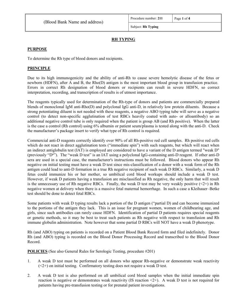 211-RH-Typing - The Indian Immunohematology Initiative