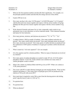 Gas Stoichiometry Worksheet Answer Key
