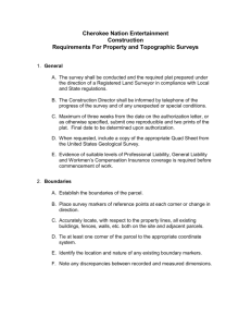 requirements for property and topographic surveys