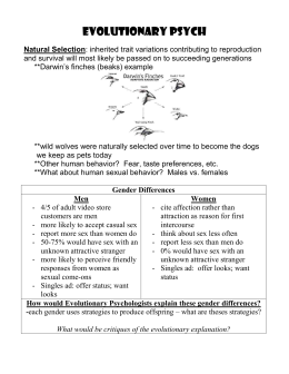 Evolutionary Psychology Notes