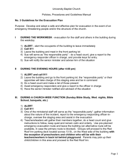 No. 3 Guidelines for the Evacuation Plan