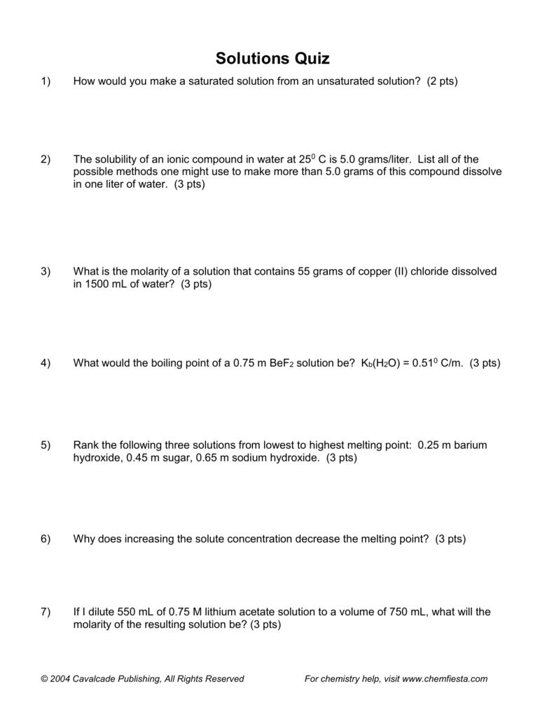 chemistry quiz 1 for fourth quarter chemistry quiz 1 for fourth quarter