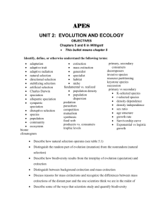 UNIT 3: EVOLUTION AND ECOLOGY
