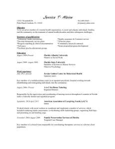 Resume January 2013 - NAMI of Palm Beach County