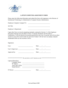 It - Laptop Computer Assignment Form