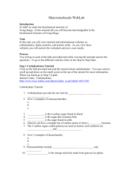 Biochemistry WebQuest