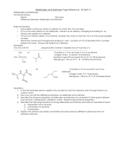 2-3b Aldehyde and ketone Overview