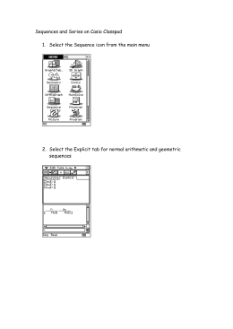 Sequences and Series on Casio Classpad