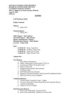 agenda - Lincoln Conservation District