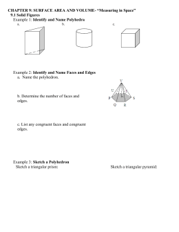 Chapter 12: Surface Area
