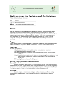 Writing about the Problem and the Solutions