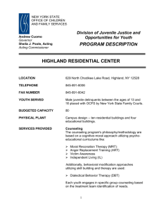 Highland Residential Center - New York State Office of Children and