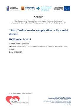 Cardiovascular complication in Kawasaki disease