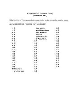 ANSWER KEY FOR Assignment DOC