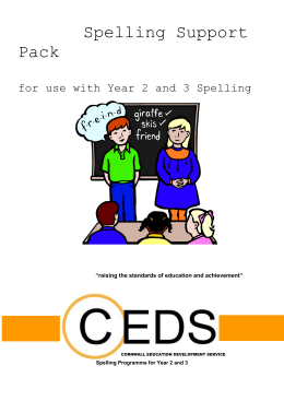Year 2-3 Spelling Resource Pack