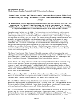 Community College Think Tank Event Press Release